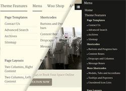mega menu - restaurante wordpress theme