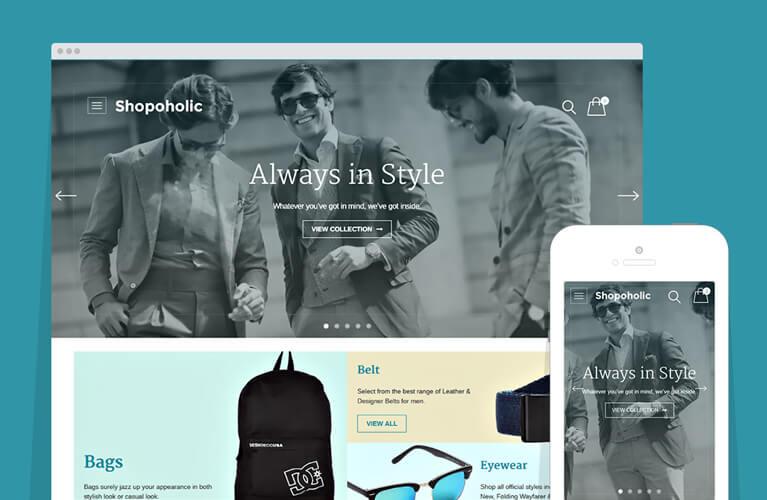 shopoholic WooCommerce theme for wordpress