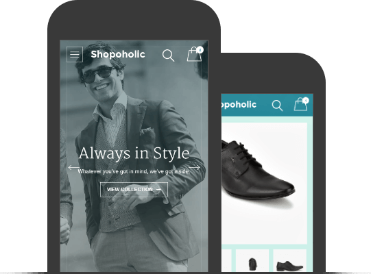 Shopoholic Theme - Mobile App View