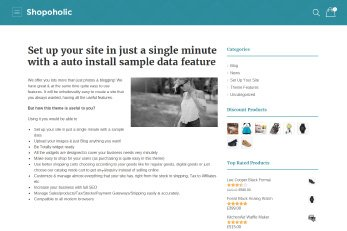User/Business Profile Page - Shopoholic Theme