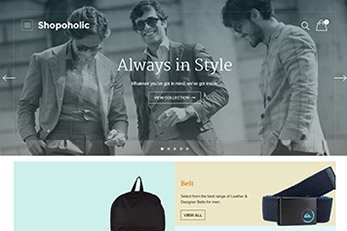 Shopoholic WooCommerce Theme - Home Page