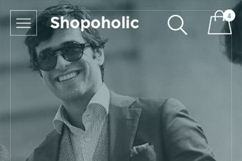 Shopaholic Theme with WooCommerce Plugin