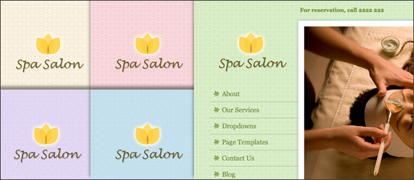 Spa Salon business theme for WordPress