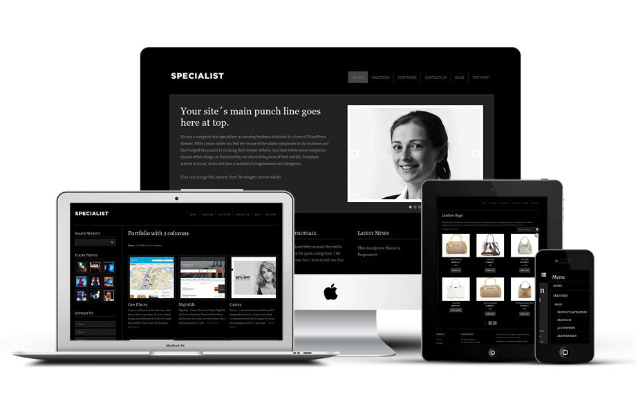 Fully Responsive 5 Star Hotel WordPress Theme