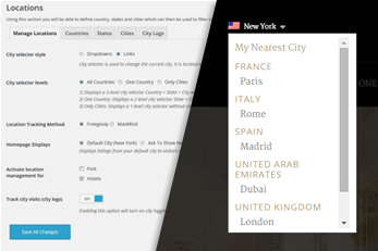 WordPress Hotels Theme With Custom Locations