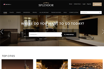WordPress Splendor Theme - Slider For Hotels