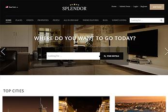 WordPress Splendor Theme - Slider For Hotels
