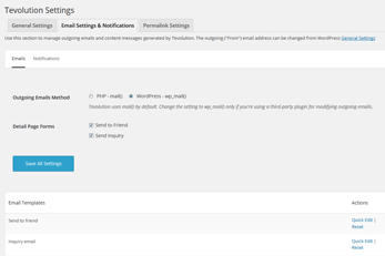 WordPress Hotel Theme Email Notifications
