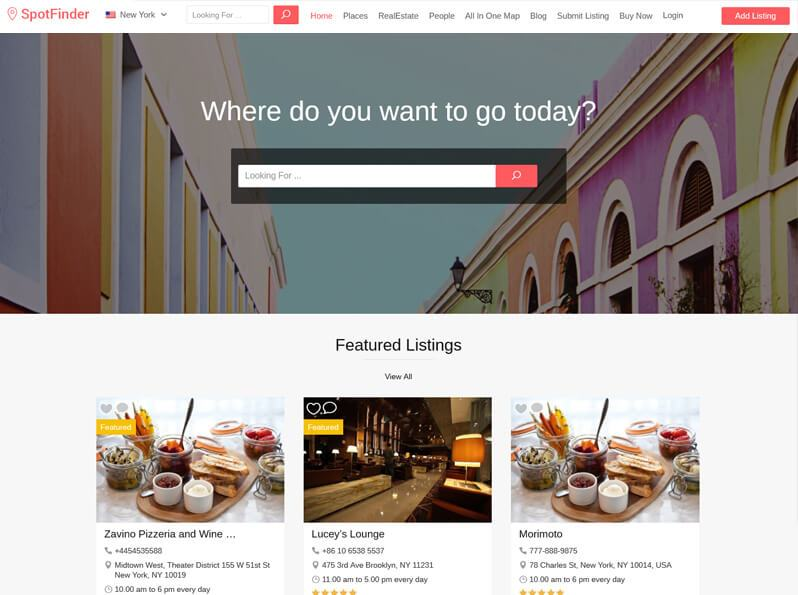 Spot Finder - AirBnB clone Directory Theme