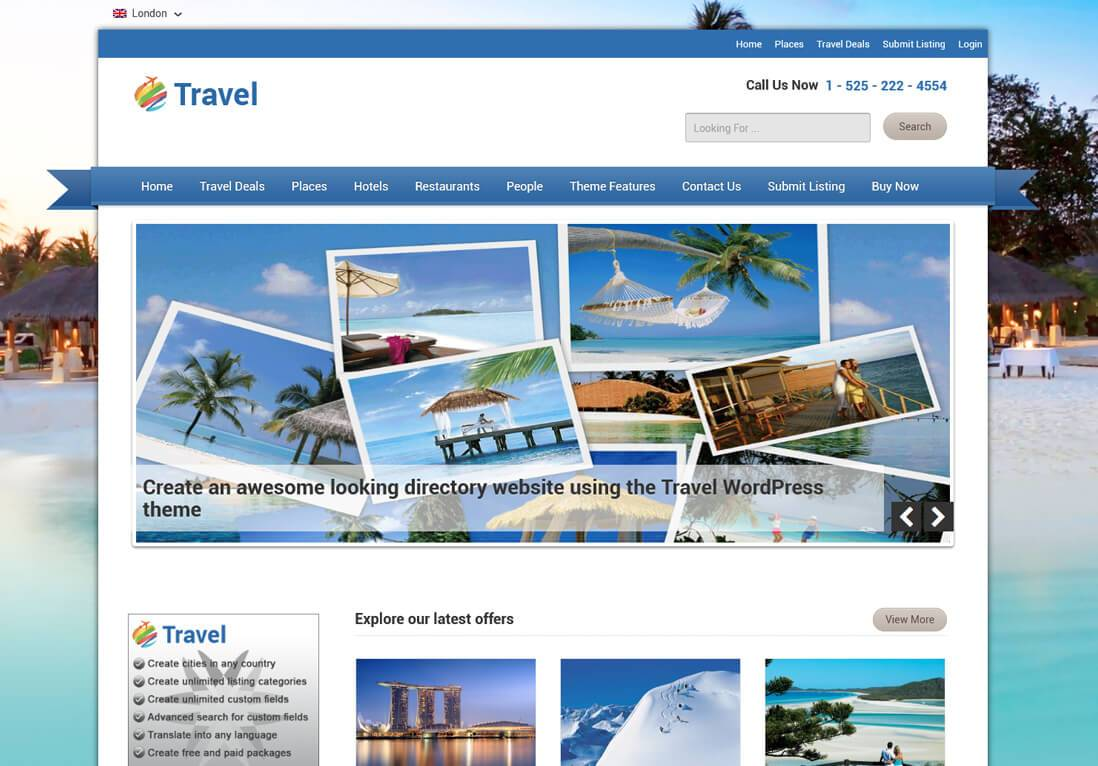 WordPress Tour Operator Theme