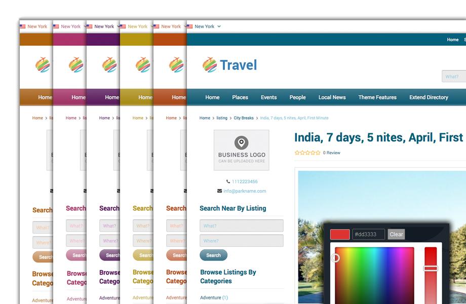 wordpress travel theme responsive travel directory theme 2018
