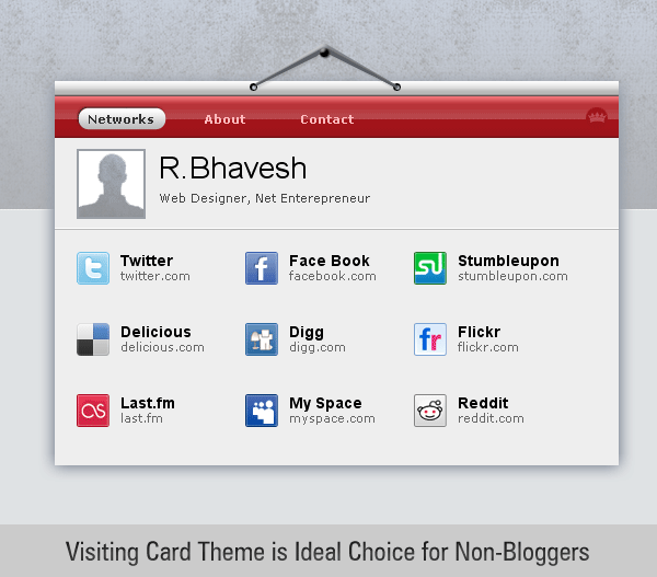 free Visiting Card wordpress theme