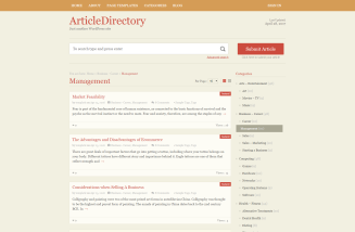 Article directory Category page