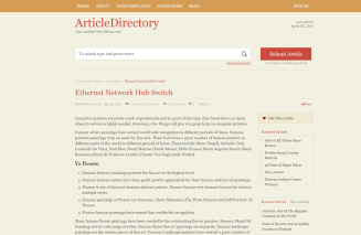 Article Directory Theme detail page