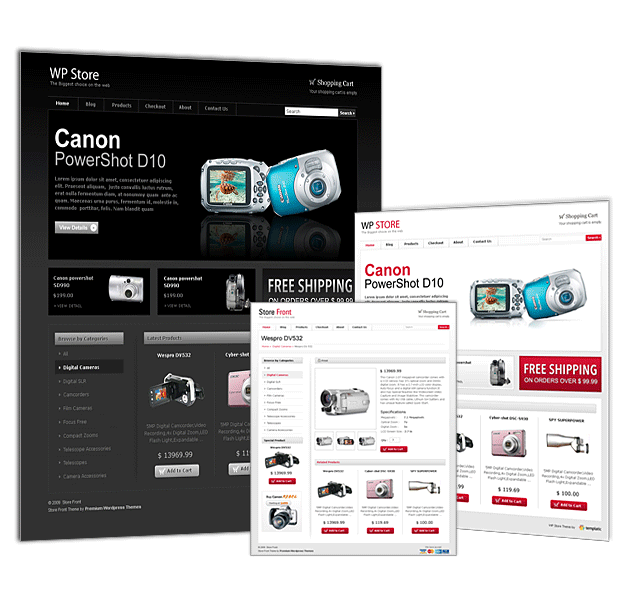 WP Store e-commerce theme from Templatic.com