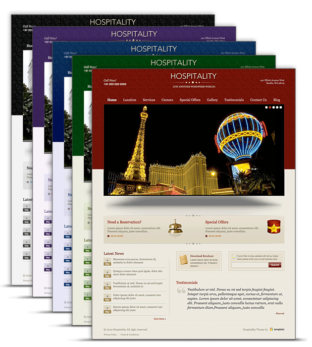 WordPress Hospitality Theme