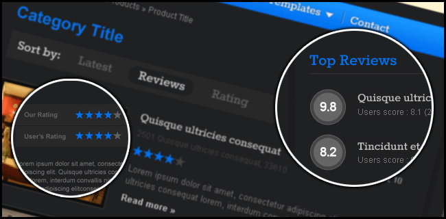 Review Theme Preview from templatic