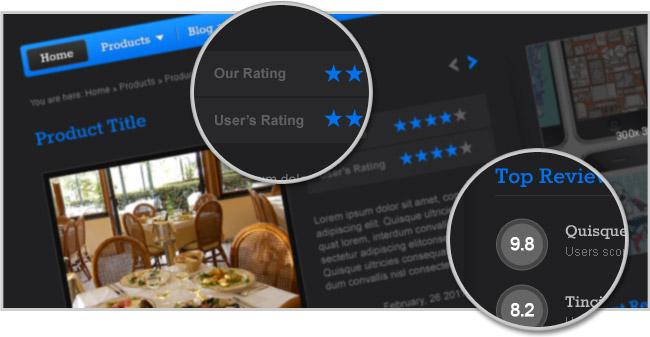Reviews WordPress App Theme