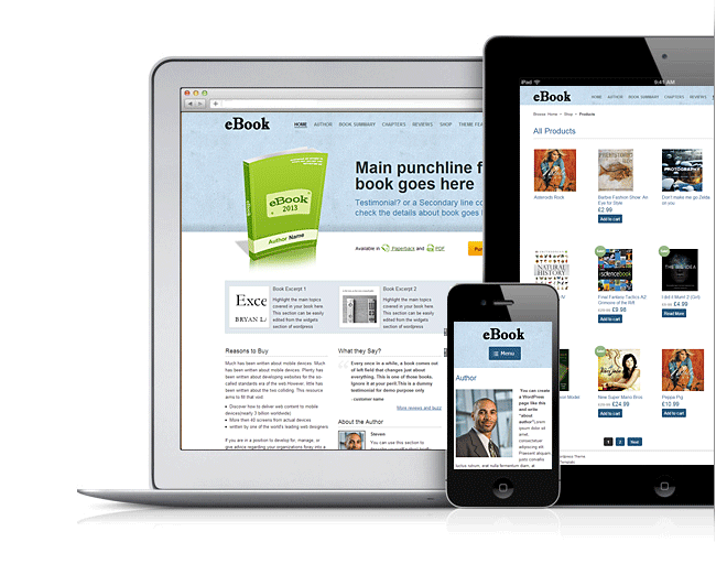 eBook theme version 2 of templatic is WooCommerce and Mobile Ready