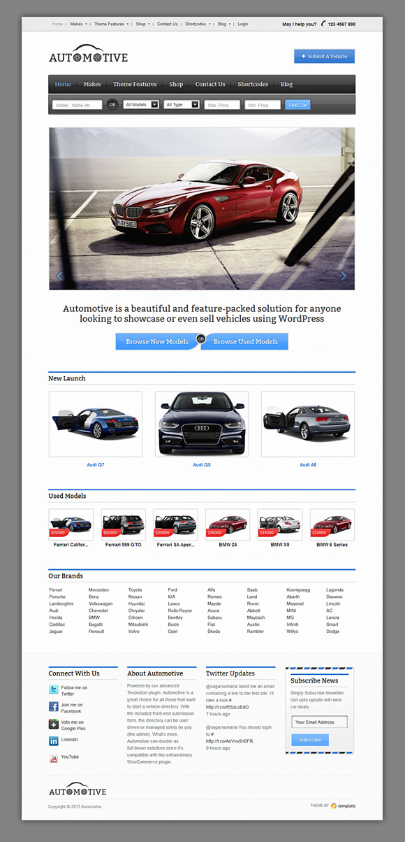 automotive homepage