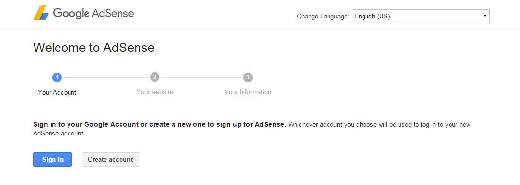 Google Adsense Account