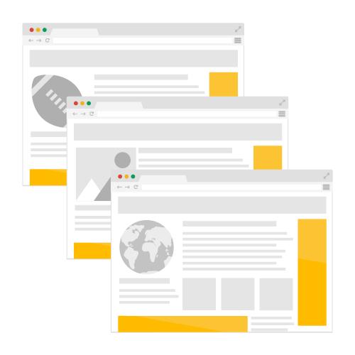 different websites