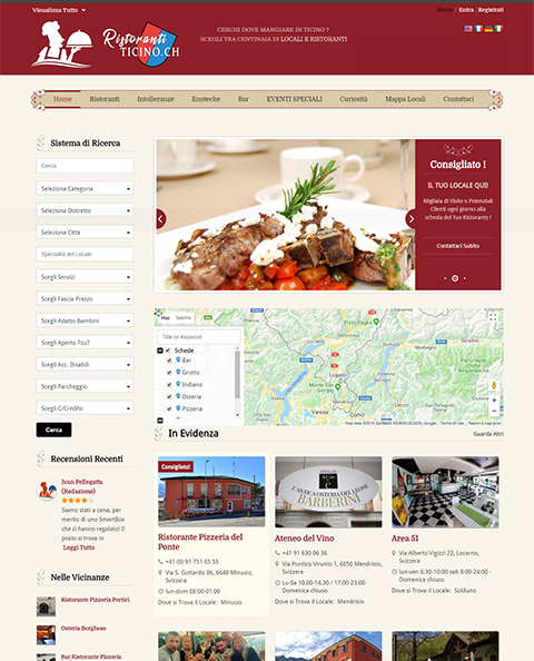 Cuisine directory website