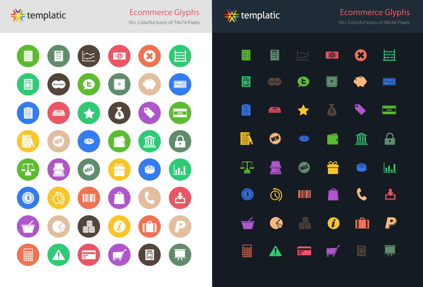 templatic ecommerce glyphs iconset