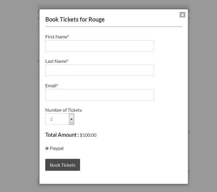 Event Ticket Booking plugin