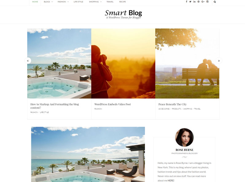 Free SmartBlog WordPress Theme