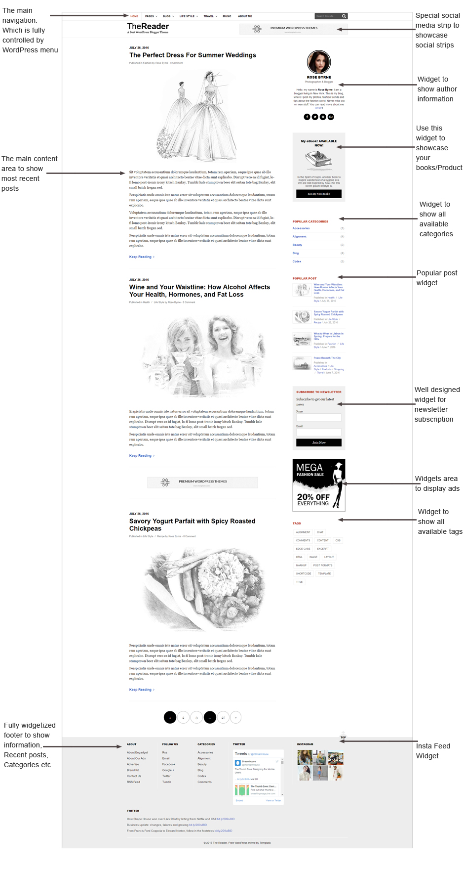 The Reader theme