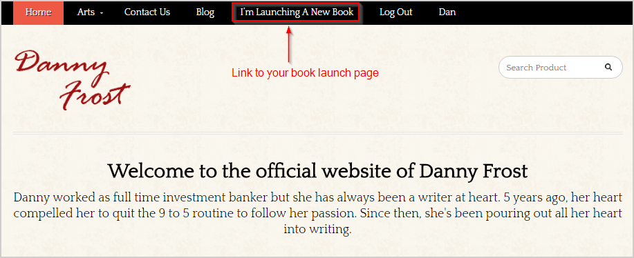 book launching website