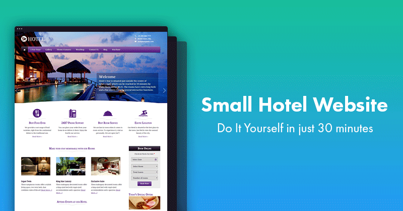 small hotel website wordpress