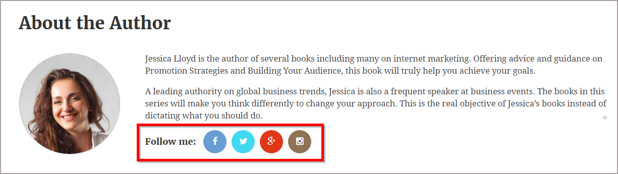 Book launch website with social sharing enabled