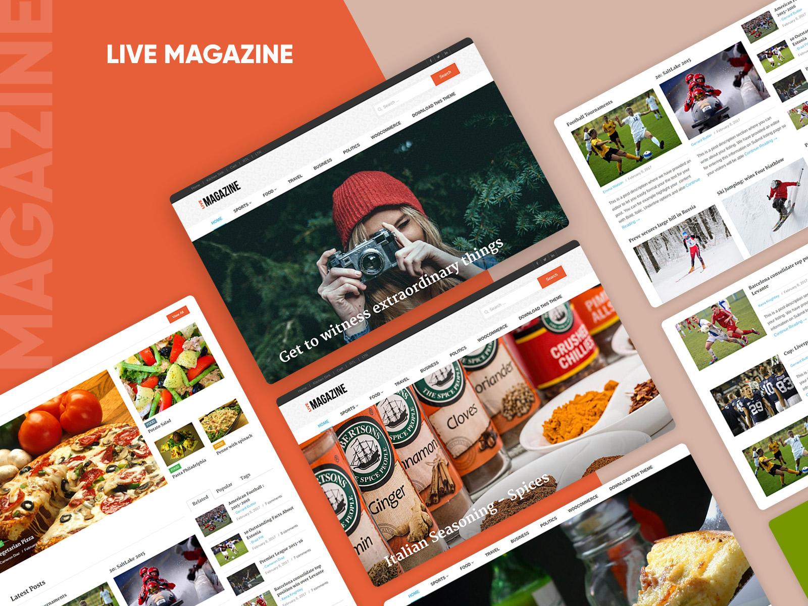 Live Magazine Modern & Updated version