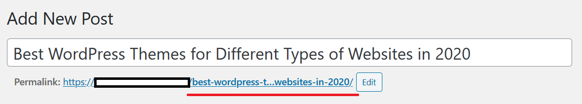Long URL format