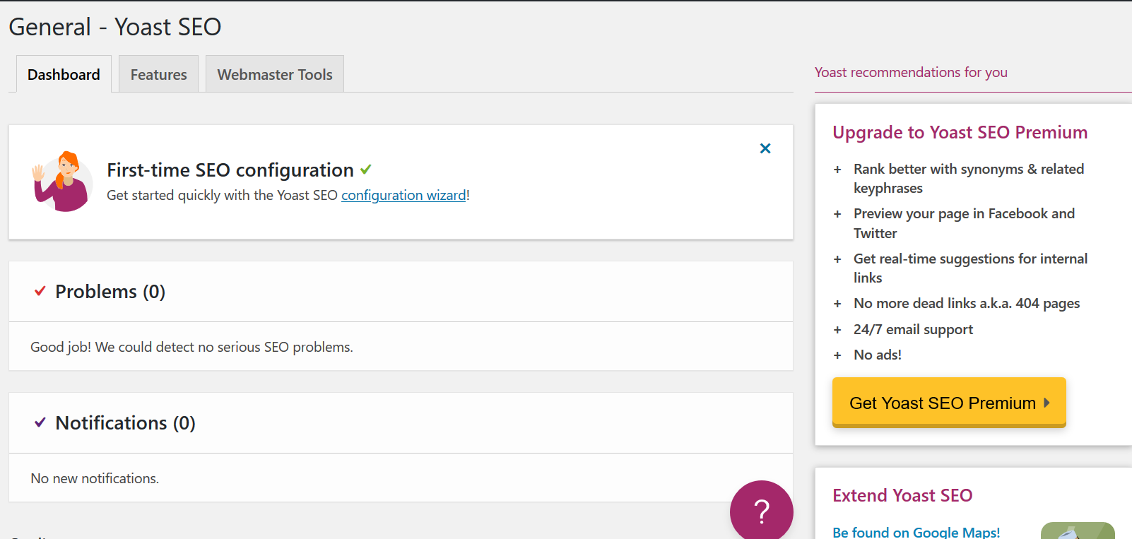 General features of Yoast SEO