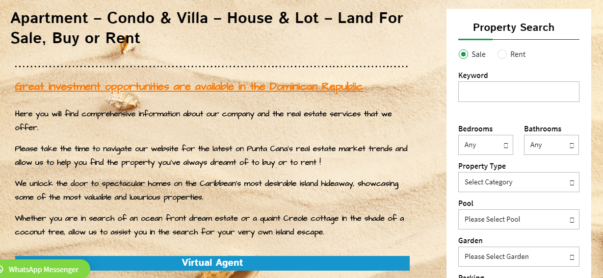 Property search feature
