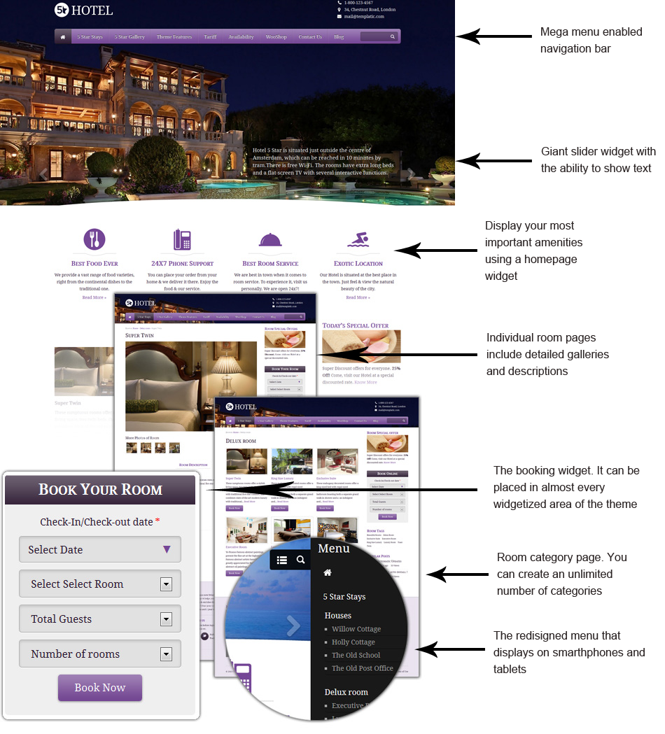 5 Star Hotel Booking Theme