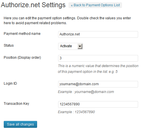 Payment Gateway Plugin For Tevolution