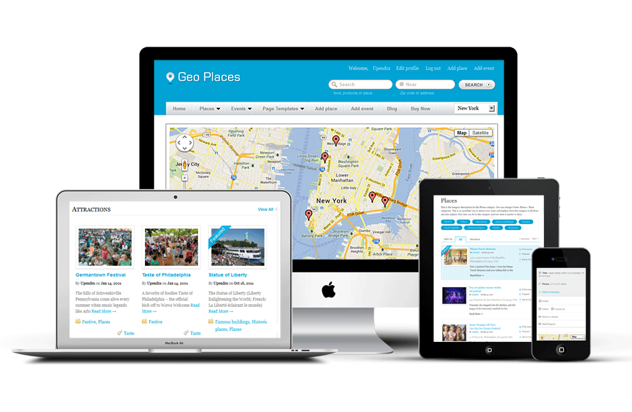 City Directory WordPress Theme With Responsive Design