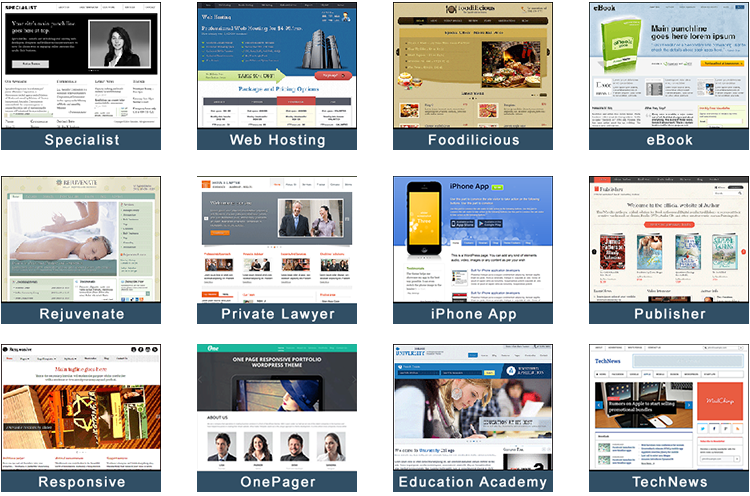 Website templates wordpress themes for business for Wordpress theme with multiple page templates