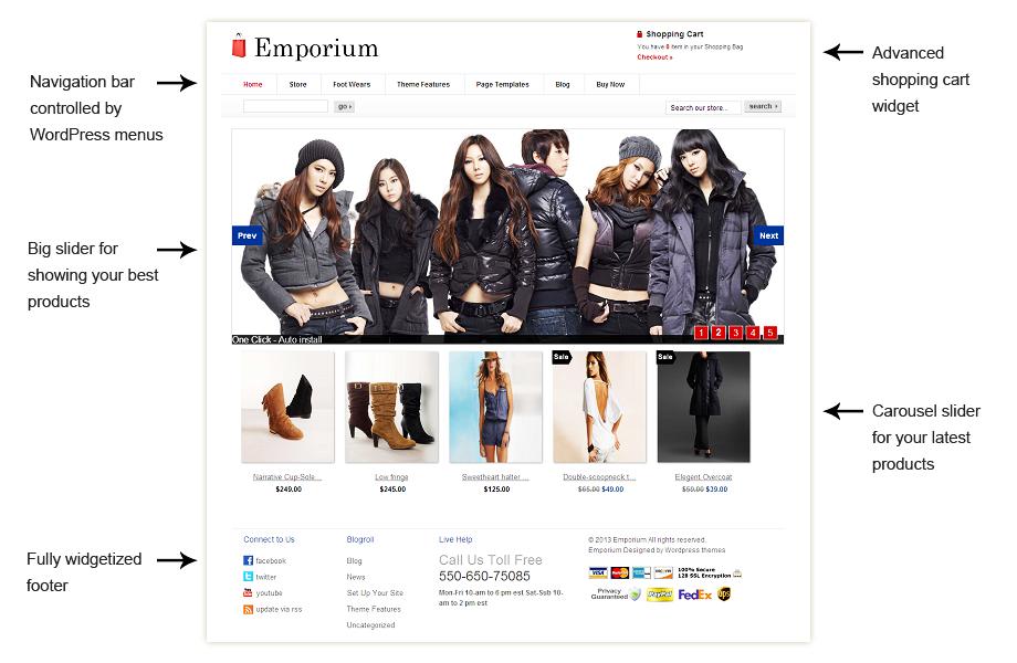 Emporium WordPress ecommerce themes