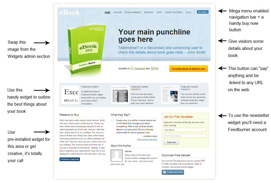 eBook Premium WordPress Theme