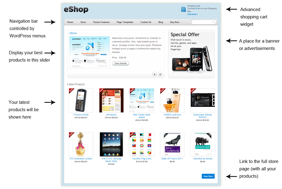 eShop WordPress e-commerce Theme