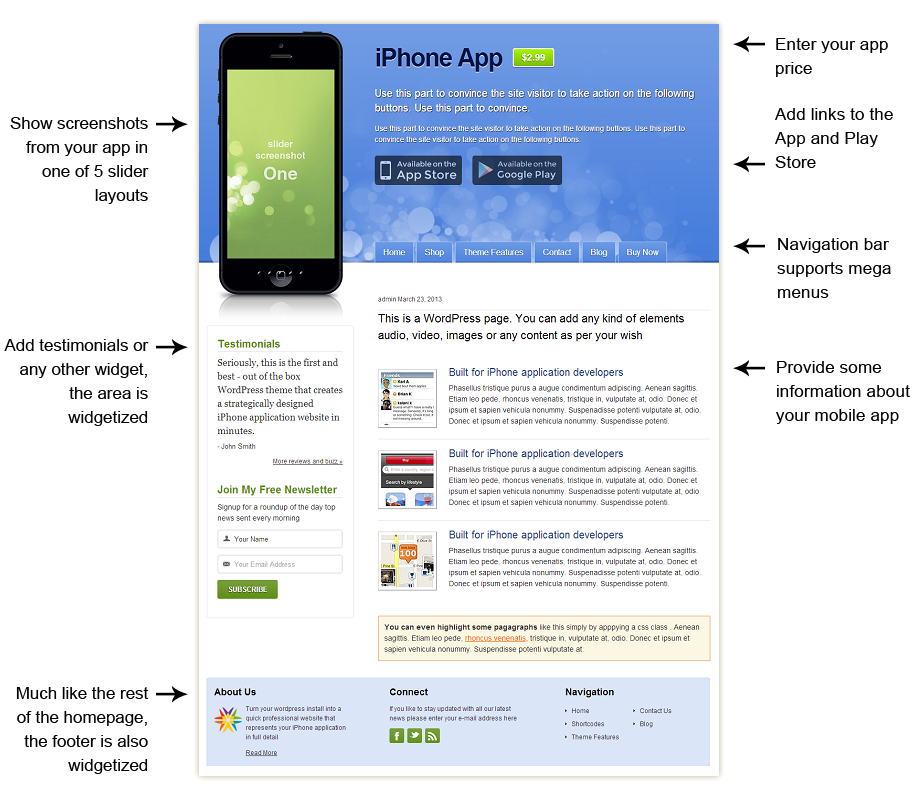 iPhone App Developer Theme