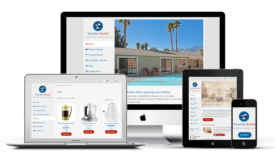 WordPress vacation rental theme
