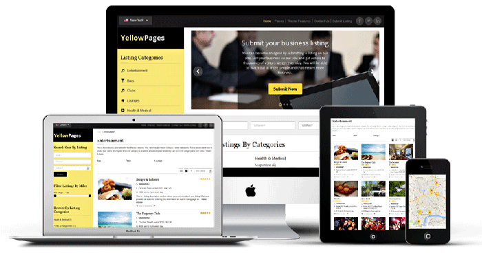 Yellow Pages Business Directory Theme