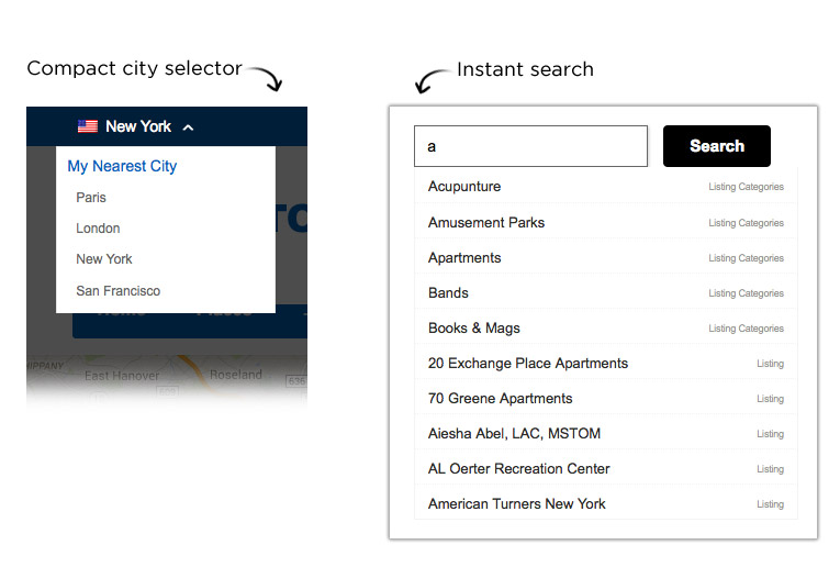 directory theme better city selector and instant search for faster discovery