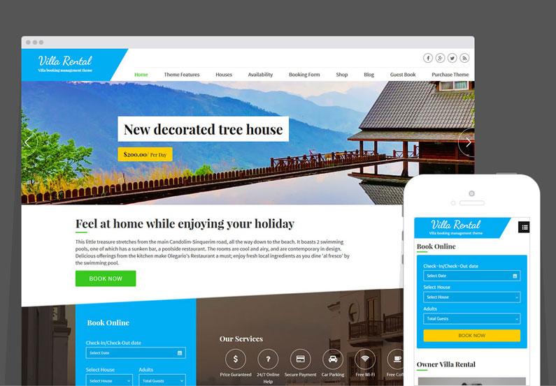 WordPress Villa Rental Theme